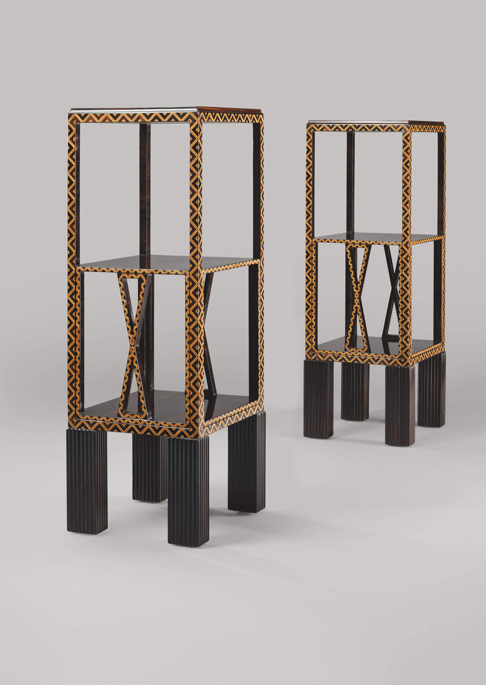 Josef Hoffman - Etageres for the Villa Ast, Vienna, MAK, Neue Galerie, New-York