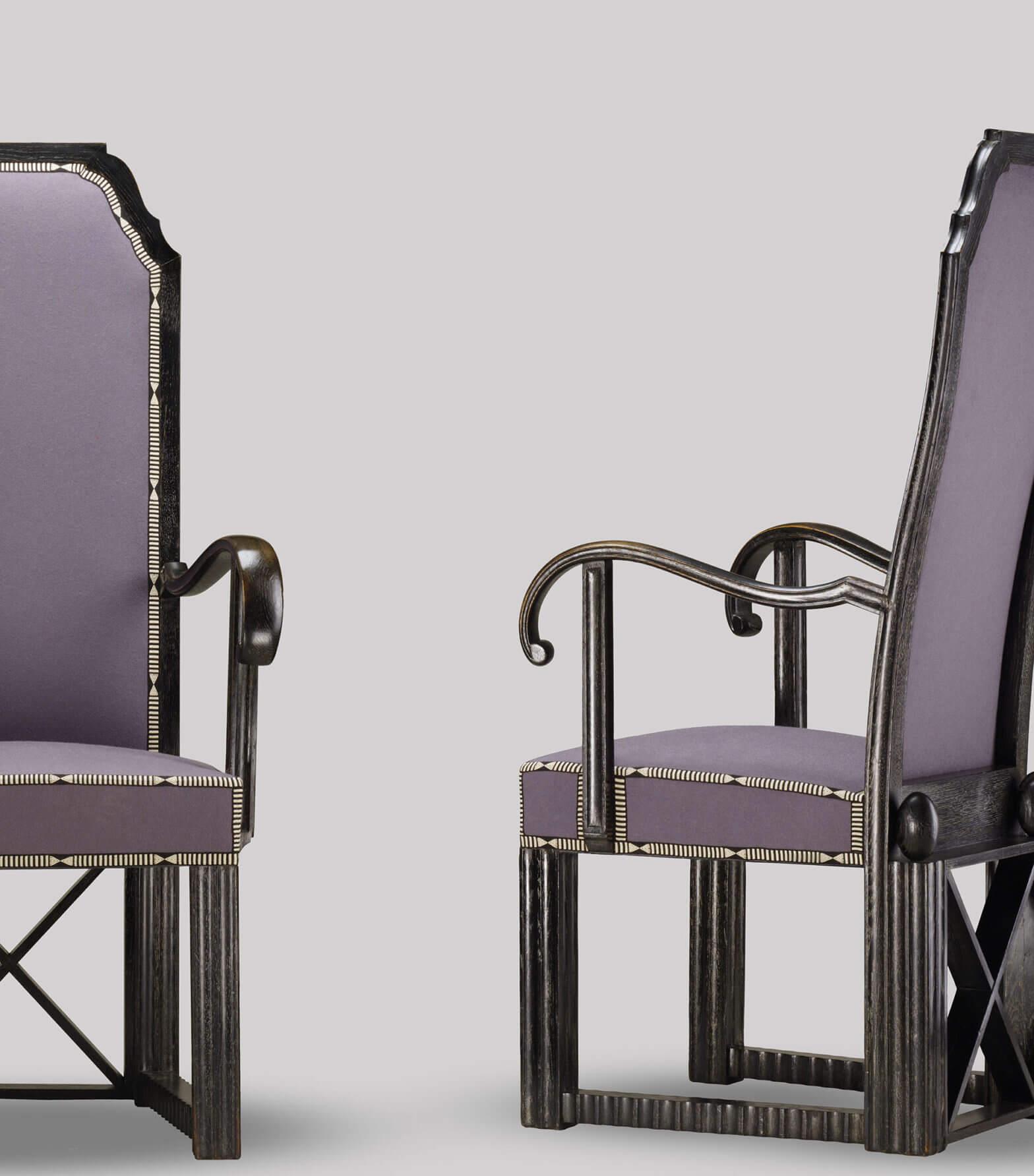 Josef Hoffmann - Set of six armchairs for Otto Zuckerkandl, MAK, Vienna